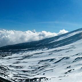 Panorama at top of Etna