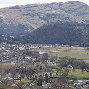 DxO10 dust removal - view on Wallace Monument, Scotland