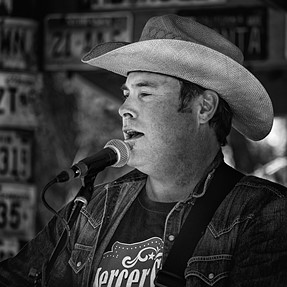 On Stage in Luckenbach 3/28