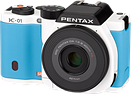 Pentax unveils blue and white K-01 in Japan
