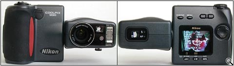 Nikon Coolpix 990 front & back (click for larger image)