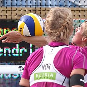 Beach volleyball and flat balls