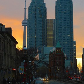 Sunset Downtown Toronto.