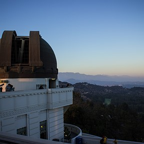 Sunset at the Griffith Park Observatory