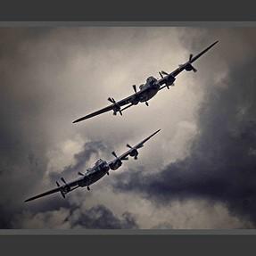 Two Lancasters on a mission