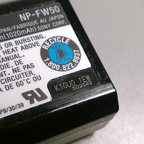 Determine age of NP-FW50 battery?