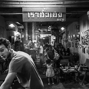 A busy Café in Thailand