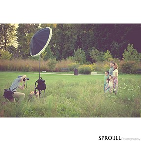 "Outdoor Family Portrait Session - One Speedlight in 64"" PLM"