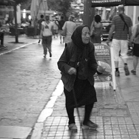 street photography in Greece with Fuji XP30