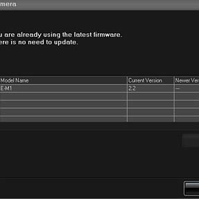 Olympus OMD EM1 3.0 Firmware - Updater does not find 3.0