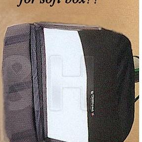 Barn door for soft box