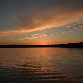 P900 at sunset