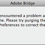 Urgent help !! Adobe Bridge has problem.