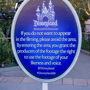 Interesting notification at Disneyland