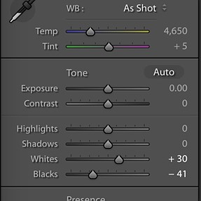 Lightroom 6.5 - why different Develop options?