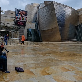 A quick view of the Guggenheim  in Bilbao