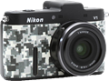 Japan Hobby Tool makes urban camouflage cover for Nikon 1 system