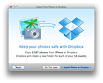 Dropbox for Mac allows for easy iPhoto exporting