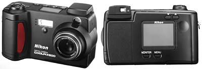 Nikon Coolpix 800 (front & back)