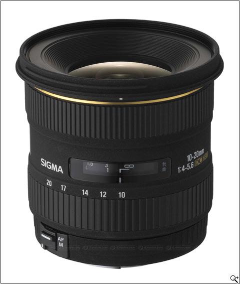 Sigma 10-22mm F4-5.6 EX DC lens